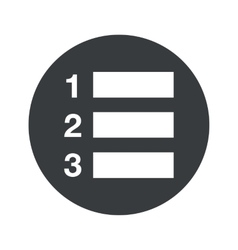 Monochrome round numbered list icon vector