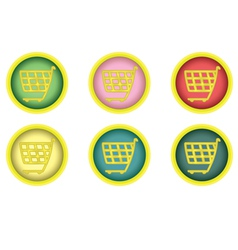 Shopping cart buttons vector