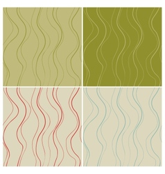 Wavy lines seamless patterns set vector