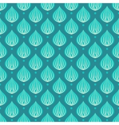 Pattern with bright blue drops on a dark blue vector