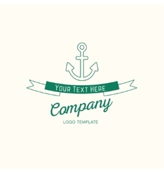 Abstract anchor vintage logo design vector