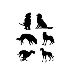 Canine silhouettes vector