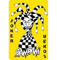 Joker cartoon vector