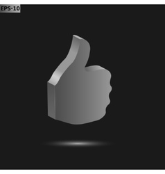 Thumb up icon vector