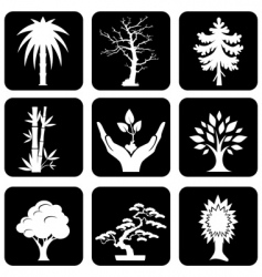 Icons trees vector