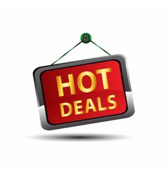 Hot deal icon vector