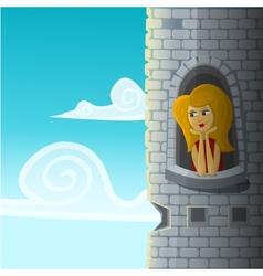 Girl in castle vector
