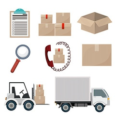 Logistics and delivery design vector