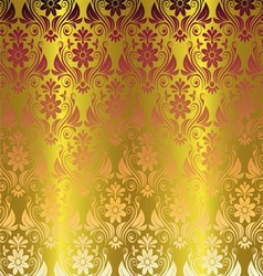 Gold elegant stylish abstract floral wallpaper vector