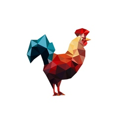 Origami rooster vector