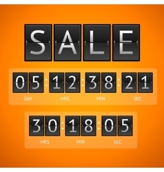 Countdown timer sale vector