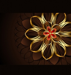 Golden flower vector