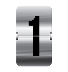 Alphabet silver flipboard letters 1 vector