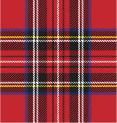 Punk rock plaid vector