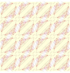 Pattern with graphic geometrical forms vector