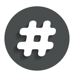Hashtag sign icon social media symbol vector