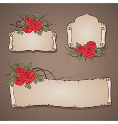 Roses banner vector