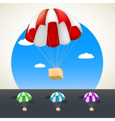 Parachute with sending vector