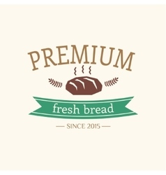 Abstract bread vintage logo element cakes vector