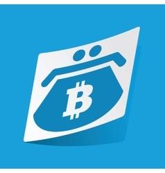 Bitcoin purse sticker vector