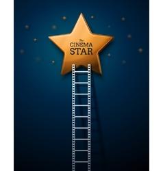 Way to the stars of cinema vector