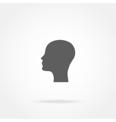 Silhouette of a man head icon vector