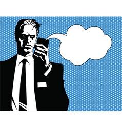 Businessman talking vector