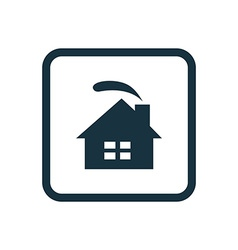 Cozy home icon rounded squares button vector