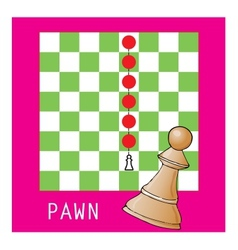 Pawn in chess vector