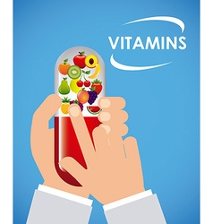 Vitamins and suplements vector