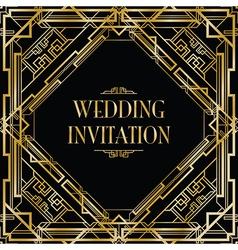 Art deco gatsby wedding vector