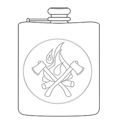 Drinking flask contour vector