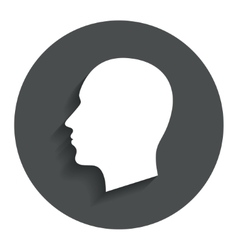 Head sign icon male human head vector