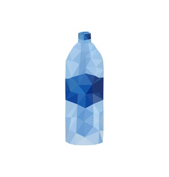 Origami water bottle vector