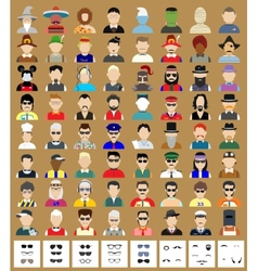 Set of avatars man vector