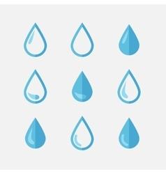 Drop icons vector
