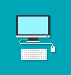 Computer pc keyboard and mouse vector