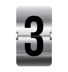 Alphabet silver flipboard letters 3 vector