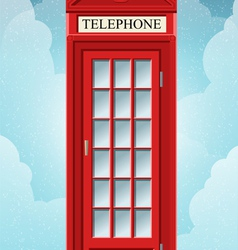 English red telephone cabin on the grass vector