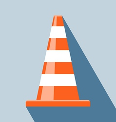 Traffic cones icon vector