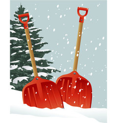 Christmas shovels vector