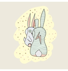 Two bunny cartoon character vector