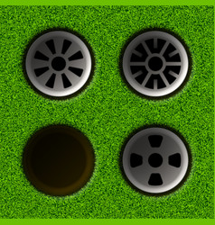 Golf hole vector