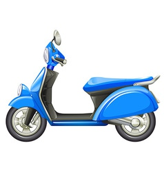 A blue scooter vector