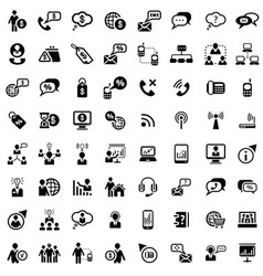 Big business and financial icons set vector