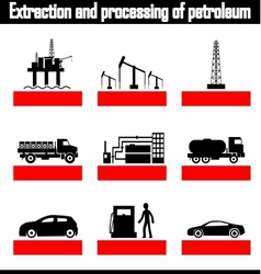 Extraction and processing of petroleum vector