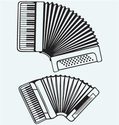 Music instruments accordion vector
