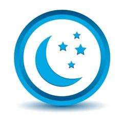 Blue moon icon vector