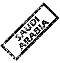 Saudi arabia stamp vector