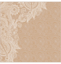 Ornamental vintage floral background vector